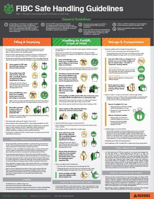 FIBC Safe Handling Guidelines Poster